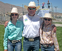 Matt Shiozawa with Josie and Mattie Merritt